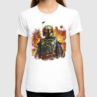 Boba Fett Womens Fitted Tee White SMALL