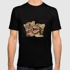 CLOUDED LEOPARD CUBS LOVE SMALL Mens Fitted Tee Black