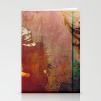 Woman In Red Stationery Cards