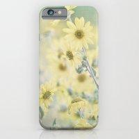 Pastel Wildflowers Yellow Helianthus Daisies -- Botanical Landscape iPhone 6 Slim Case
