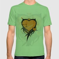 Art Poster Mens Fitted Tee Grass SMALL