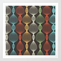 Geo Bulbs Art Print