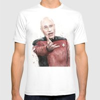 Annoyed Picard Meme  Mens Fitted Tee White SMALL