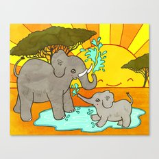 Puddle Stomping Canvas Print