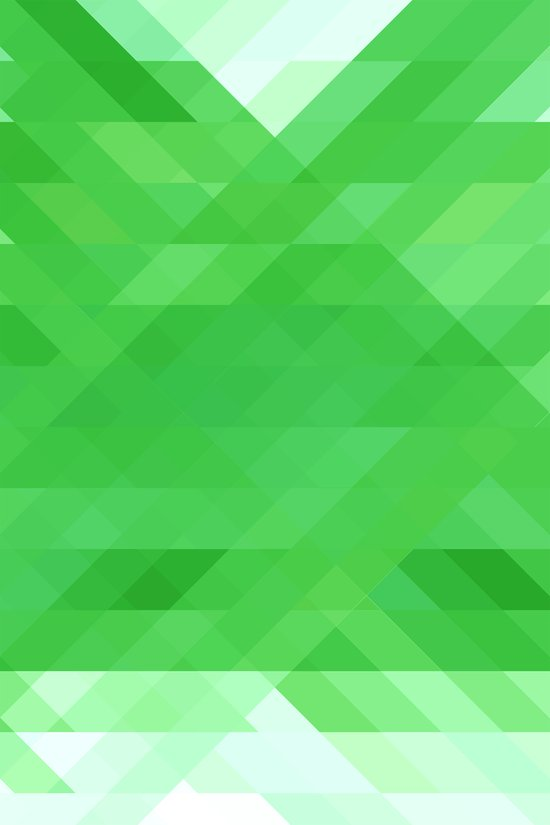 Green Geometrics Art Print