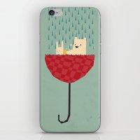 umbrella bath time! iPhone & iPod Skin