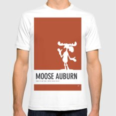 No19 My Minimal Color Code poster Bullwinkle White SMALL Mens Fitted Tee