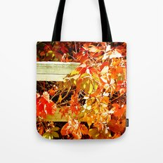 On The Fence About Fall Tote Bag