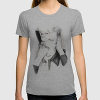 DECONSTRUCTION OF DAVID BOWIE  Womens Fitted Tee Athletic Grey SMALL