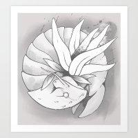Fossil Mysterion #3 (B&W) Art Print