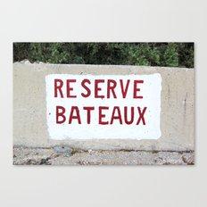 Reserve Bateaux, Côte d'Azur, French Riviera Canvas Print