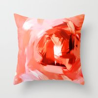 BLOSSOMS - COLORS II Throw Pillow