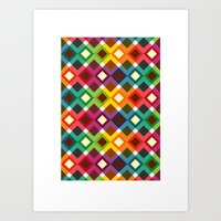 Geometric Pattern (2013) Art Print