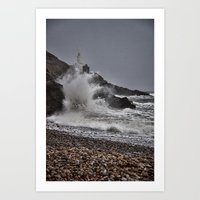 Mumbles Wild Waves. Art Print