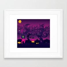 Night of the forest spirit Framed Art Print