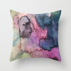 Ink Clouds Throw Pillow