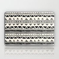 Tribal Vintage Stripe Bl… Laptop & iPad Skin