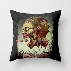 Pac-zombie Throw Pillow