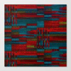 Dark reds in lines of chalk Canvas Print