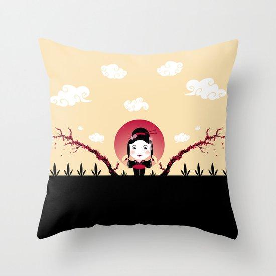 Geisha2 Throw Pillow
