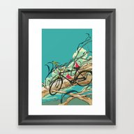 Framed Art Print featuring Have A Nice Day by Huebucket
