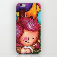 Love Angel - Fun, sweet, unique, creative and very colorful, original, acrylic children illustration iPhone & iPod Skin