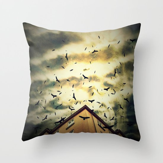 Somebody is watching you Throw Pillow