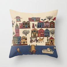 Urban Regeneration Throw Pillow