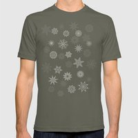 Snowflakes Mens Fitted Tee Lieutenant SMALL