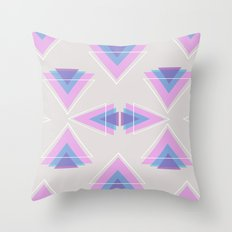 TRIANGLES IN COLOUR Throw Pillow