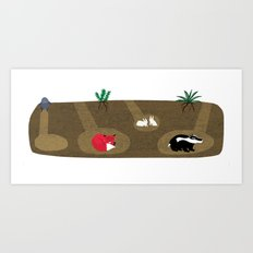Burrow Full House Art Print