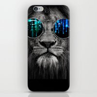 Lion In Shades iPhone & iPod Skin