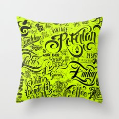 Typoster Throw Pillow