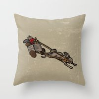 The Nut Express Throw Pillow