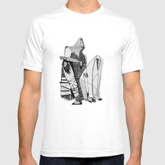 Wait, it's gonna be interesting (touch the ground) - Emilie Record SMALL Mens Fitted Tee White