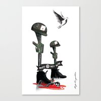 Canvas Print featuring War Peace by munchie brain