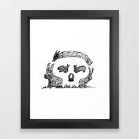 Bunny Skull Framed Art Print