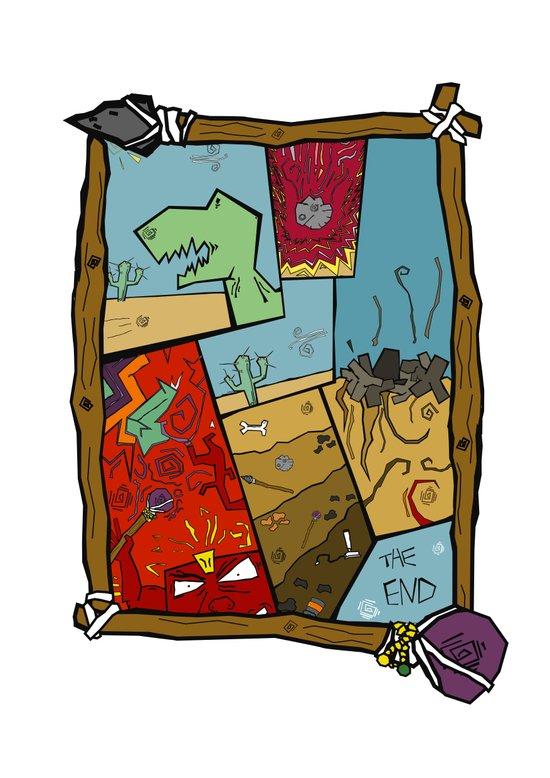 Dino Time  Art Print