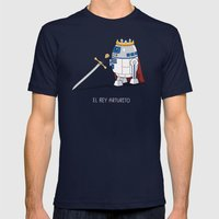 Rey Arturito (Spanish) Mens Fitted Tee Navy SMALL