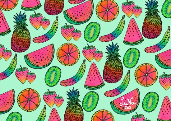 I ♥ Fruits Art Print
