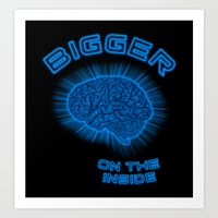 Thoughts And Radical Dreams Inside Skull Art Print