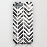 iPhone & iPod Case featuring Brush Chevron by Emma Mazur