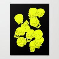 Neon Skulls Canvas Print