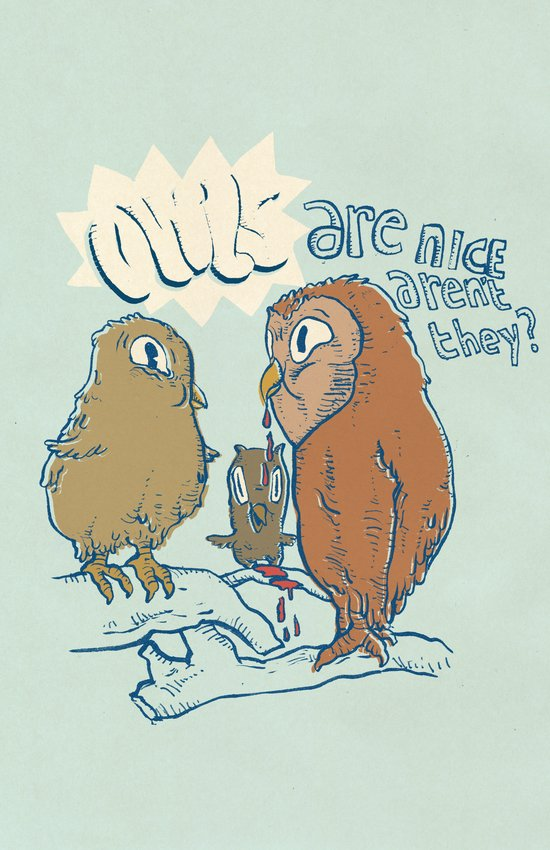 owls are nice Art Print