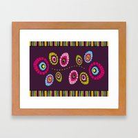 Folk Variation Framed Art Print