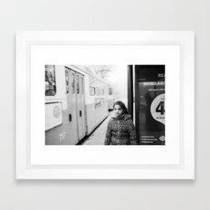 Before getting on the next tram Framed Art Print