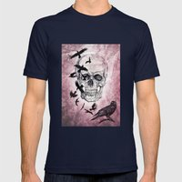 The Crows of Death Mens Fitted Tee Navy SMALL