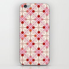 Crosses & Dots (red + pink) iPhone & iPod Skin
