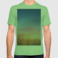 Abstract Sunset Mens Fitted Tee Grass SMALL