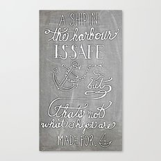 Chalkboard hand-lettered motivational quote Canvas Print